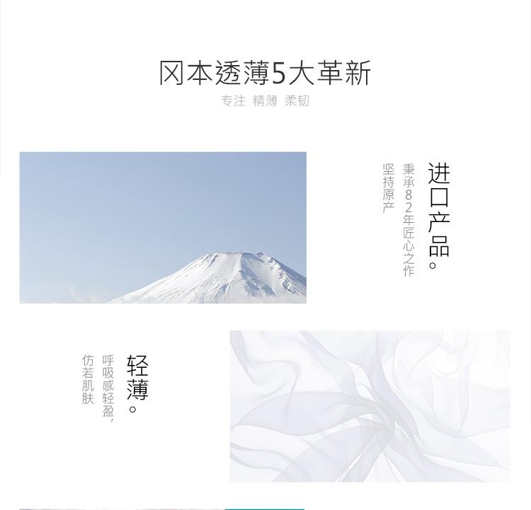 冈本 避孕套超薄无感透薄3片装原装进口 Okamoto1412