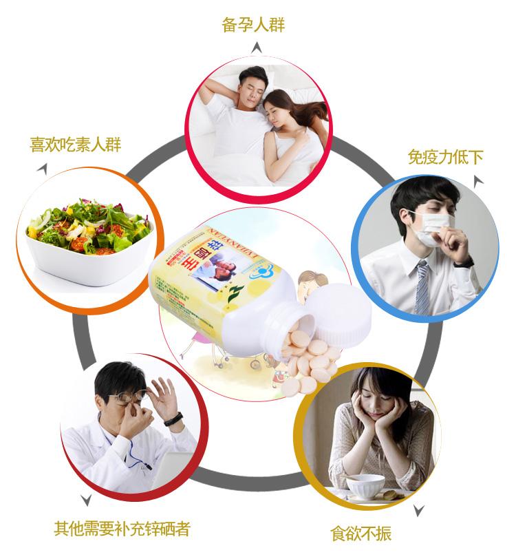 【厂家直销】绿健园 锌硒宝咀嚼片0.5g*100片 0195