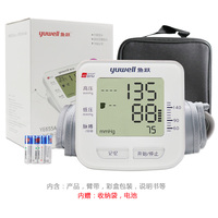 鱼跃电子血压计YE655A家用上臂式智能全自动测量高低血压仪器