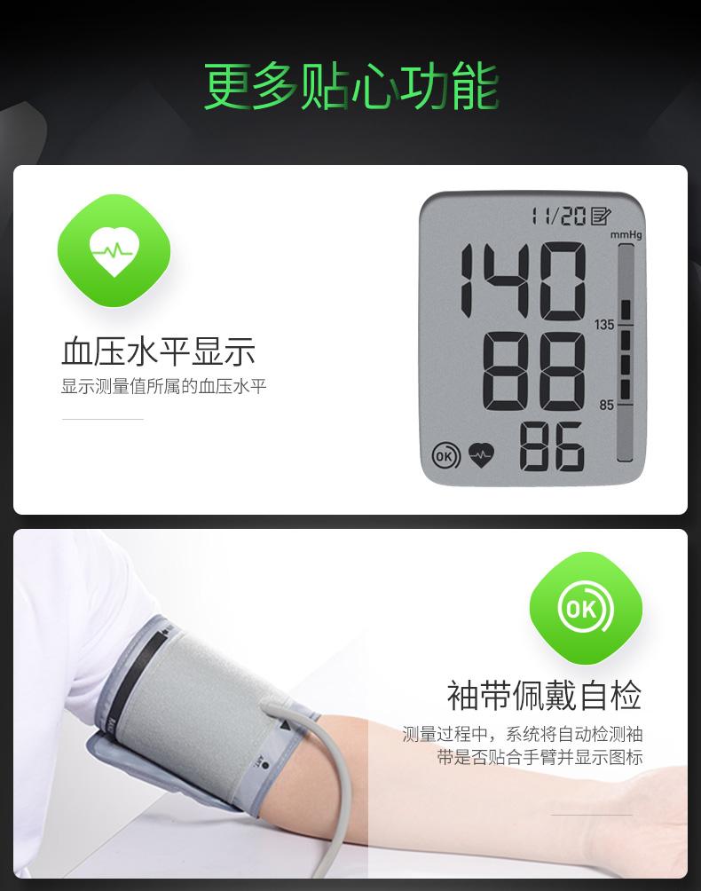 欧姆龙电子血压计U31 上臂式语音家用智能全自动高精准测量血压仪2698